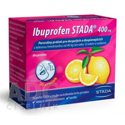 Ibuprofen STADA 400 mg perorálny prášok