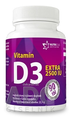 NUTRICIUS Vitamín D3 EXTRA 2500 IU