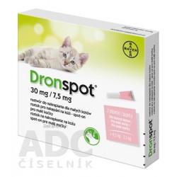 Dronspot 30 mg/7,5 mg spot-on (2 pipety)