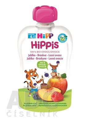 HiPP HiPPis 100% Ovocie Jablko Brosk. Lesné plody