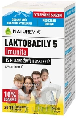 "SWISS NATUREVIA LAKTOBACILY ""5"" Imunita"