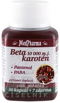 MedPharma BETAKAROTÉN 10 000 m.j.+Pantenol+PABA