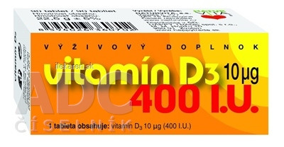 NATURVITA VITAMÍN D3  10 μg (400 I.U.)