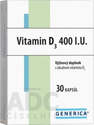 GENERICA Vitamin D3 400 I.U.