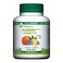 BIO Pharma Vláknina 600 mg, Chróm 200 µg