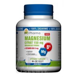 BIO Pharma Magnesium citrát 150mg + Vitamín B6