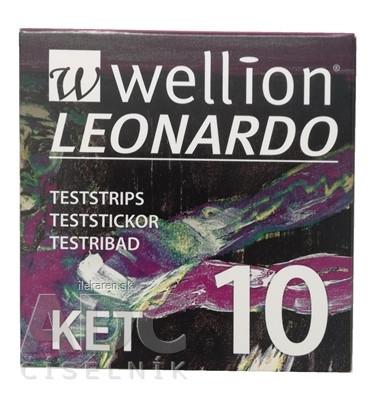 Wellion LEONARDO KET Prúžky testovacie
