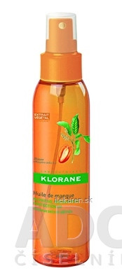 KLORANE HUILE DE MANGUE na suché a poškodené vlasy