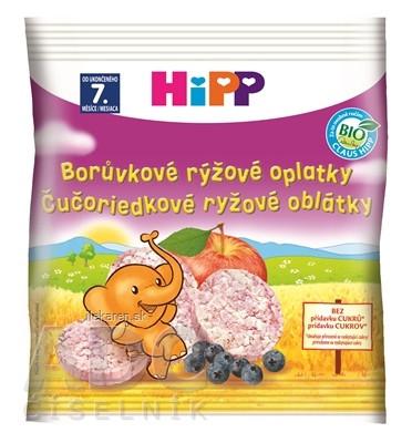 HiPP BIO OBLÁTKY Čučoriedkové ryžové