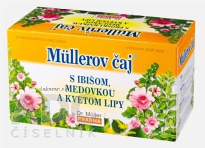 Müllerov čaj S IBIŠOM, MEDOVKOU A KVETOM LIPY