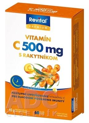 Revital PREMIUM VITAMÍN C 500 mg S RAKYTNÍKOM