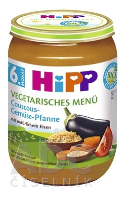 HiPP Príkrm BIO Vegetariánske menu Kuskus