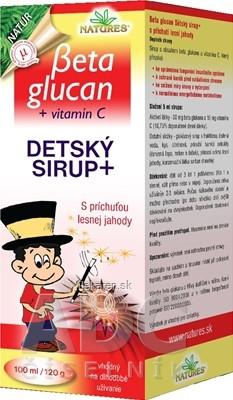 NATURES BETA GLUCAN DETSKY SIRUP+