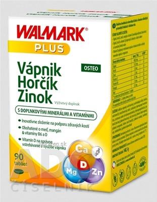 WALMARK Vápnik Horčík Zinok OSTEO