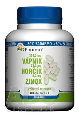 BIO Pharma Vápnik, Horčík, Zinok