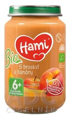 Hami ovocný príkrm BIO S broskyňou a banánmi