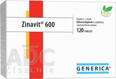 GENERICA Zinavit 600 s pomarančovou arómou