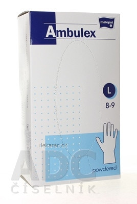 Ambulex rukavice LATEXOVÉ
