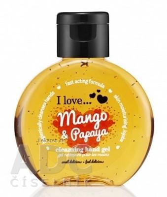 I Love Čistiaci gél na ruky Mango a Papaya