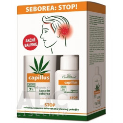 Cannaderm CAPILLUS šampón + sérum seborea DUO-pack