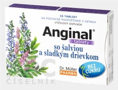 Dr. Müller ANGINAL so šalviou a sladkým drievkom