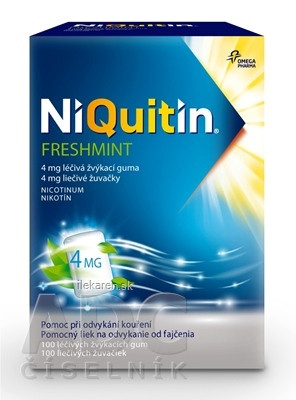 NiQuitin Freshmint 4 mg liečivé žuvačky