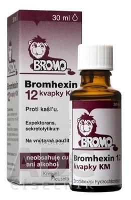 BROMHEXIN 12 KVAPKY KM