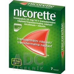 Nicorette invisipatch 25 mg/16 h transder. náplasť