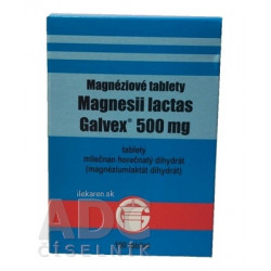 Magnesii lactas Galvex 500 mg