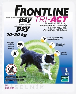 FRONTLINE TRI-ACT Spot-On pre psy M