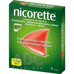 Nicorette invisipatch 15 mg/16 h transder. náplasť