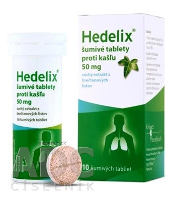 Hedelix šumivé tablety proti kašľu