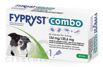FYPRYST combo 134 mg/120,6 mg PSY 10-20 KG