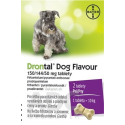 Drontal Dog Flavour 150/144/50 mg tablety