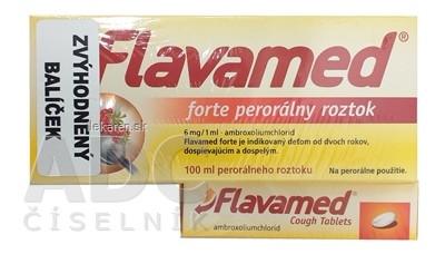 Flavamed forte roztok + Cough Tablets (balíček)