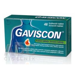 GAVISCON žuvacie tablety