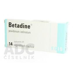 Betadine 200 mg vaginálne čapíky