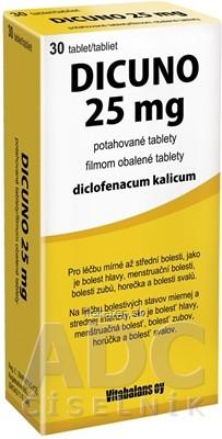 DICUNO 25 mg filmom obalené tablety