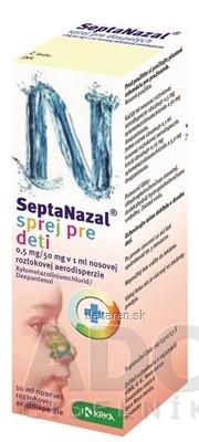 Septanazal sprej pre deti